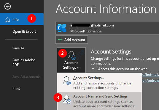 Account And Sync Settings