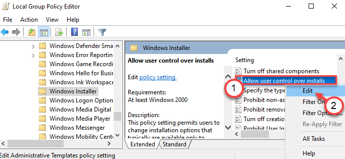 Allow User Control Edit Min