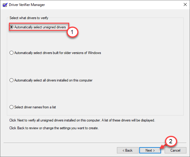 Automatically Select Unassigned Drivers Min