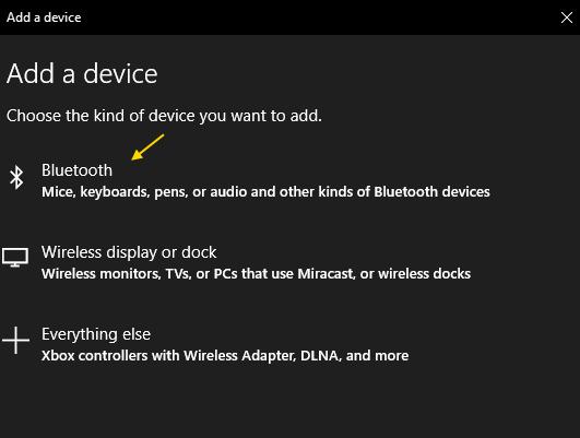 Bluetooth Add Device Min