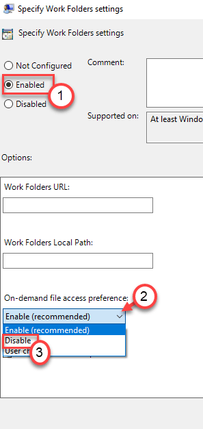 Disable Specify Min