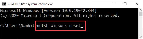 Netsh Winsock Reset New