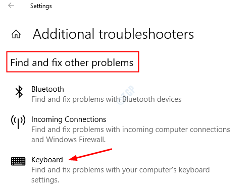 Troubleshoot Keyboard