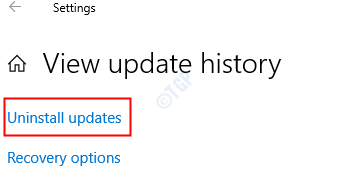 Uninstall Updates