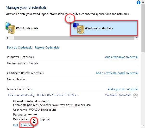 Windows Credential Remove Min