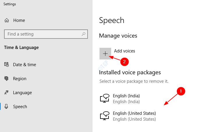 speech settings