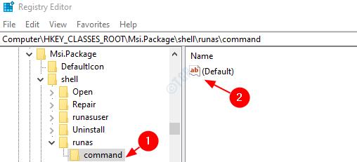 command default