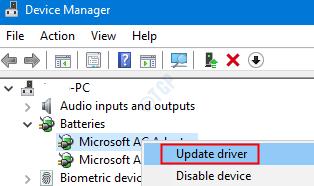 Update Microsoft Adapter
