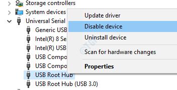 Disable USB Root Hub