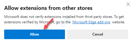 Allow Extensions From Other Store Allow