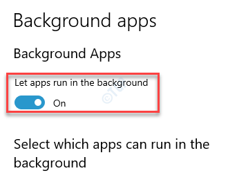 Background Apps Let Apps Run In The Background Turn On