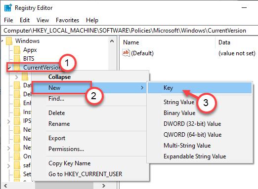 Current Version Key Min