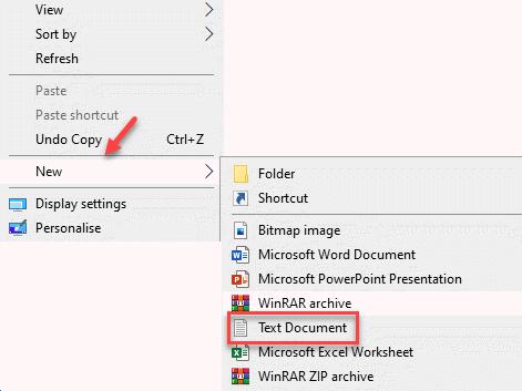Desktop Right Click New Text Document Min