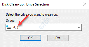 Disk Clean Up Drive Selection C Drive Ok