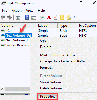 Disk Management Volume Root Drive Right Click Properties Min