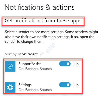 Notifications & Actions Get Notifications From These Apps Turn On Any Or All Apps