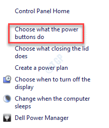 Power Options Choose What The Power Buttons