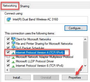 Properties Networking Internet Protocol Version 4 Properties