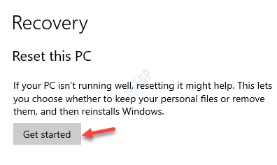 Recovery Reset This Pc Get Started