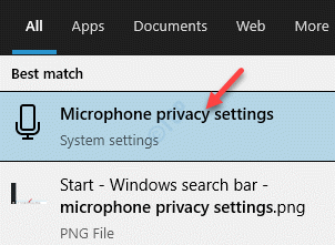 Result Microphone Privacy Settings