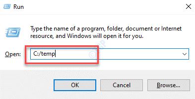 Run Command Navigate To Temp Folder In C Drive Enter