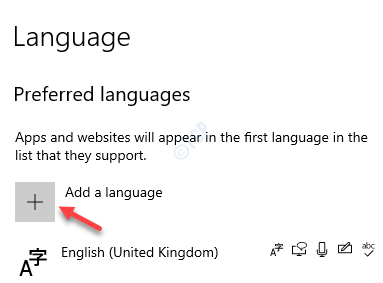 Settings Time & Language Language Preferred Languages Add A Language