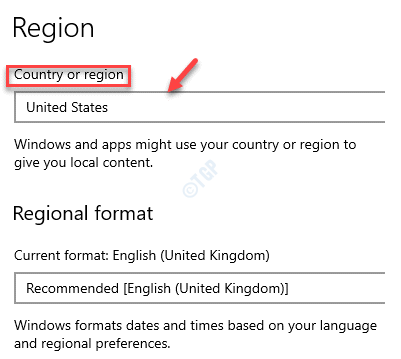 Settings Time & Language Region Country Or Region United States