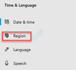 Settings Time & Language Region