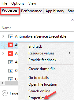 Task Manager Processes Right Click Properties