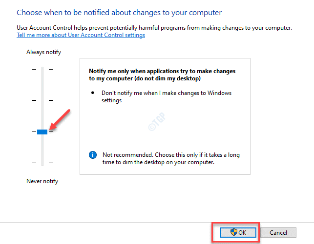 User Account Control Settings Notify Me Only When Applications Try To Make Changes To My Computer (do Not Dim My Desktop)