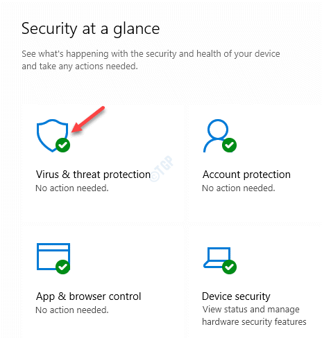 Windows Security Security Glance Virus & Threat Protection