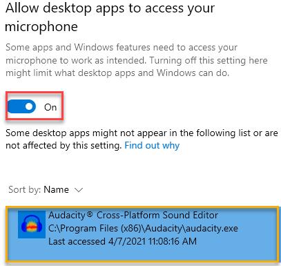 Allow Mic Access On Min