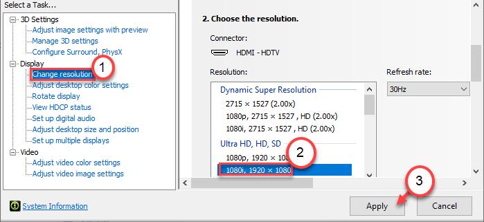 Change Resolution Min