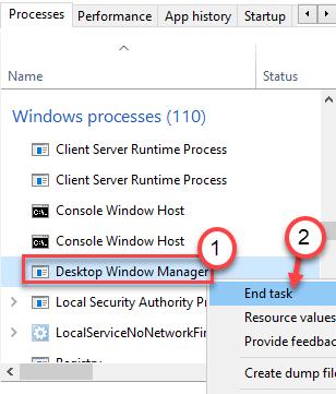 Desktop Window Manager End Task Min