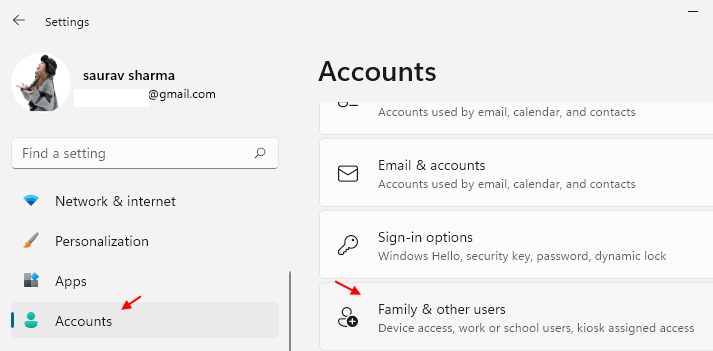 Family Other Users Account Min