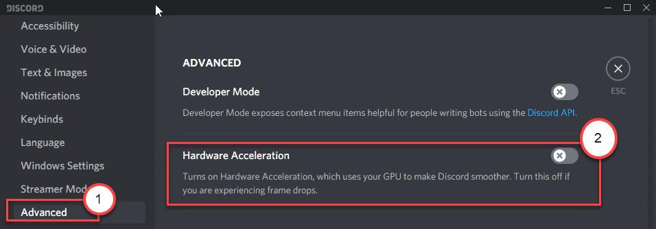 Hadrware Accleration Off Min