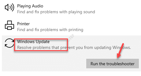 Additional Troubleshooter Get Up And Running Windows Update Run The Troubleshooter