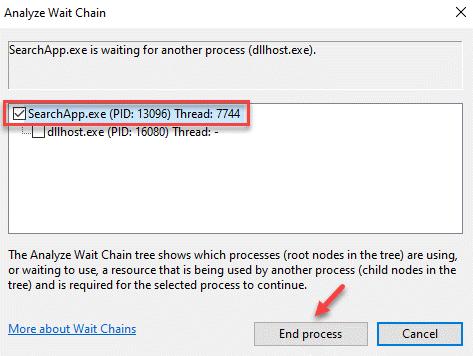Analyze Wait Chain Elect The Process Thread End Process
