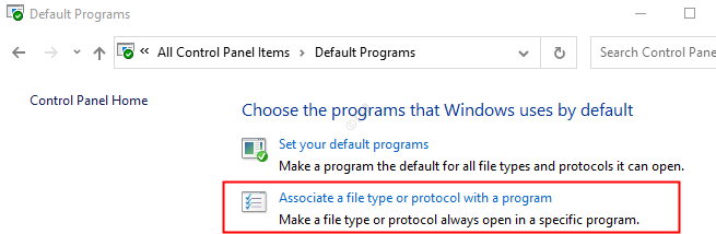 Associate A Filetype Or Protocol