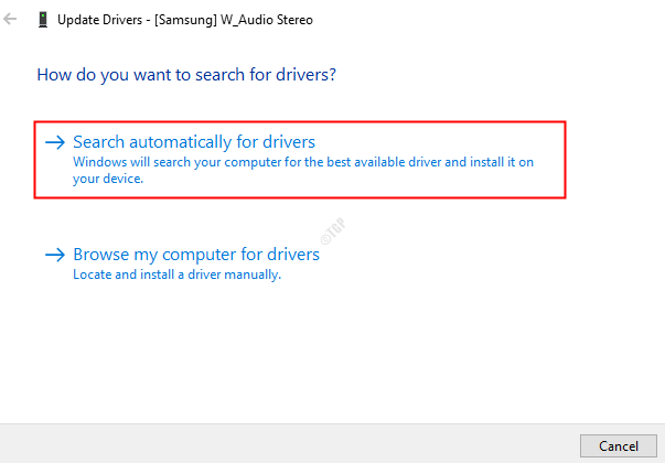 Audio Search For Drivers