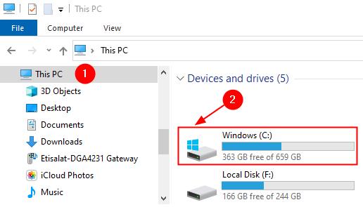 Choose Windows C