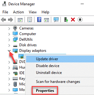 Device Manager Display Adapters Graphics Driver Right Click Properties