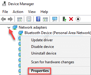 Device Manager Network Adapters Expand Network Device Right Click Properties