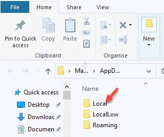 File Explorer Appdata Local