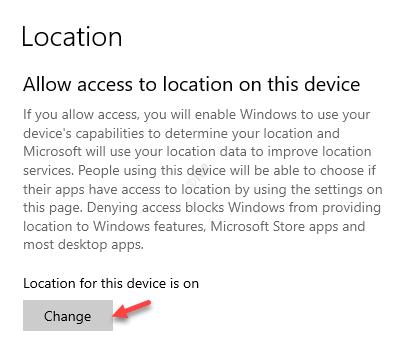 Location Allow Access To Location On This Device Change