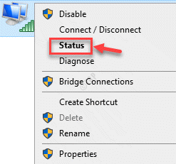 Network Connections Wifi Right Click Status