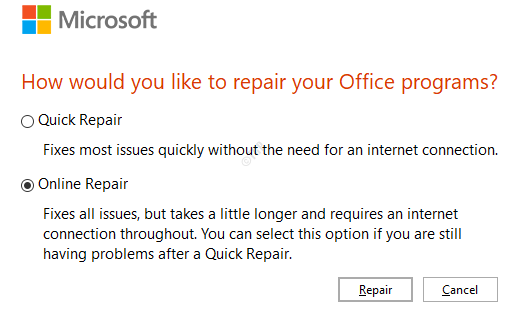 Online Repair