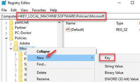 Registry Editor Navigate To Path Microsoft Right Click New Key