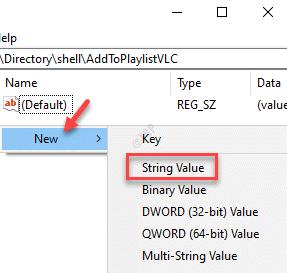 Registry Editor Right Side Right Click New String Value