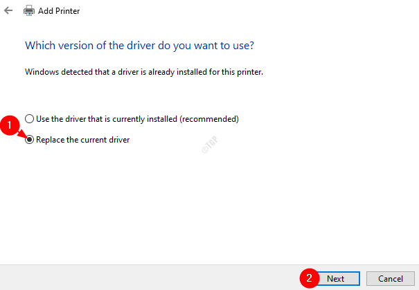 Replace Current Driver